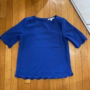 Brand new scallop blue blouse